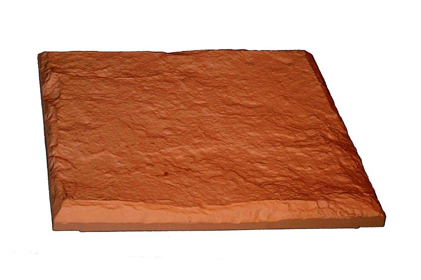dalle extérieur imitation pierre naturelle couleur terre cuite